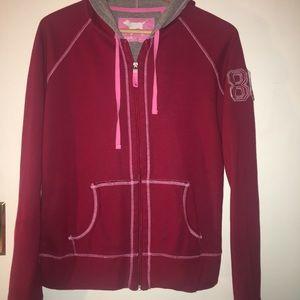 Pink Victoria's Secret Jersey distressed hoodie